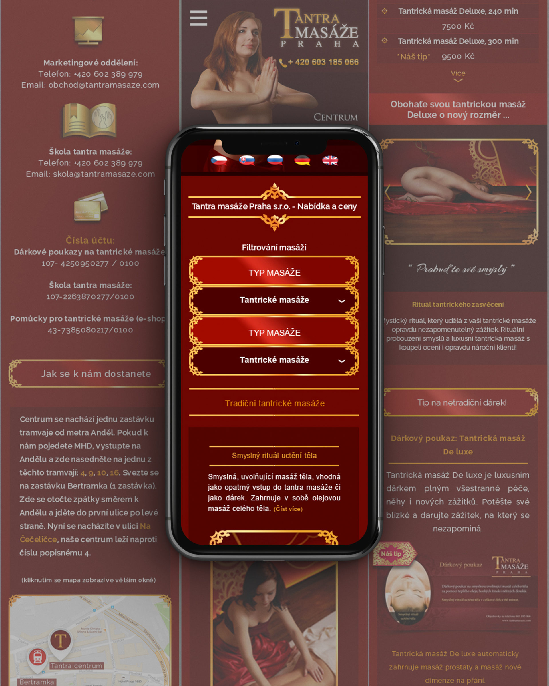 Mobile Version Of The Tantra Website Rodesigns